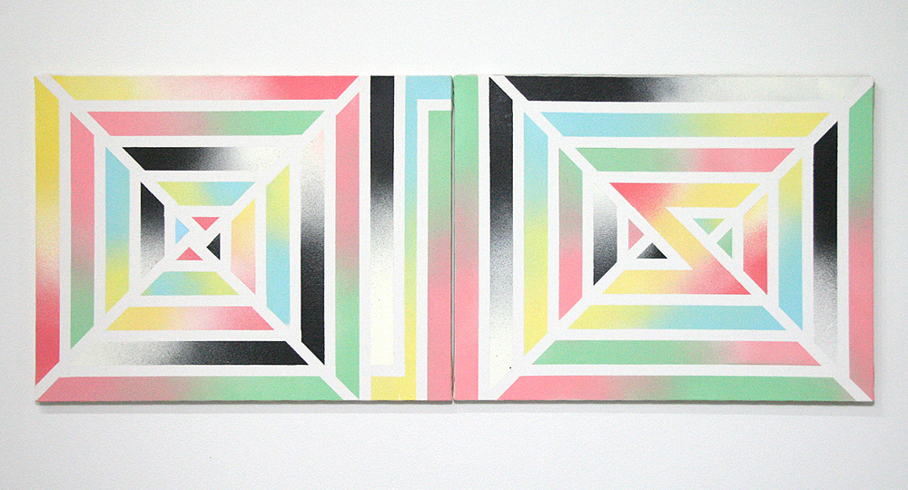 LisaFrankStella  2011 Paint on canvas 12 x 36 in/ 30.5 x 91.44 cm
