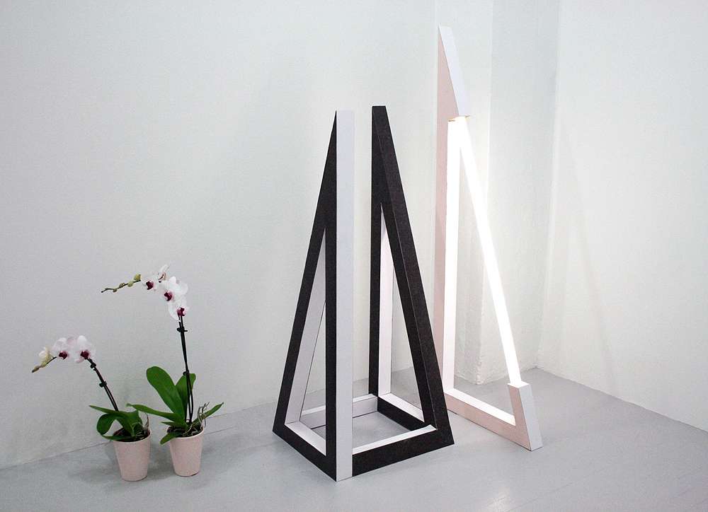 Spa   2011 Formica, MDF, fluorescent tube/ballast, orchids Dimensions variable