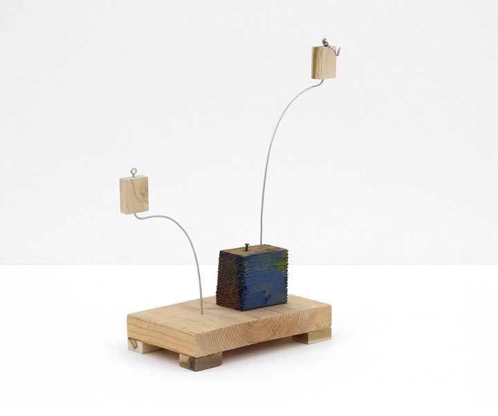 B. Wurtz  Untitled   2012 Wood, paint, wire, nail, hook and eye 18 ¾ x 17 x 6 ½ in/ 47.6 x 43.2 x 16.5 cm