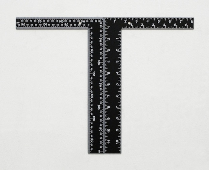 Rulers   2014 Acrylic and urethane on steel 12 x 16 in/ 30.5 x 40.6 cm