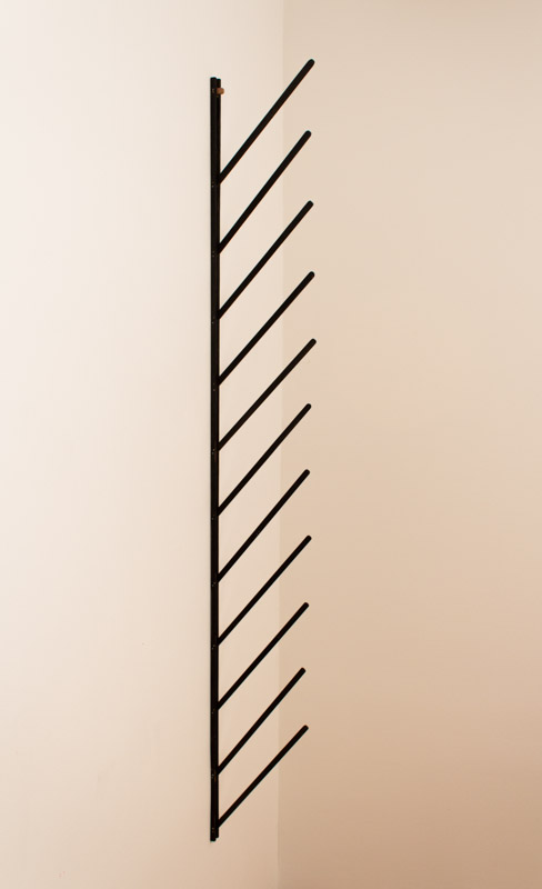 Lukas Geronimas  Closer   2012 Wood and paint 58 x 1 x 8 in/ 147.3 x 2.5 x 20.3 cm