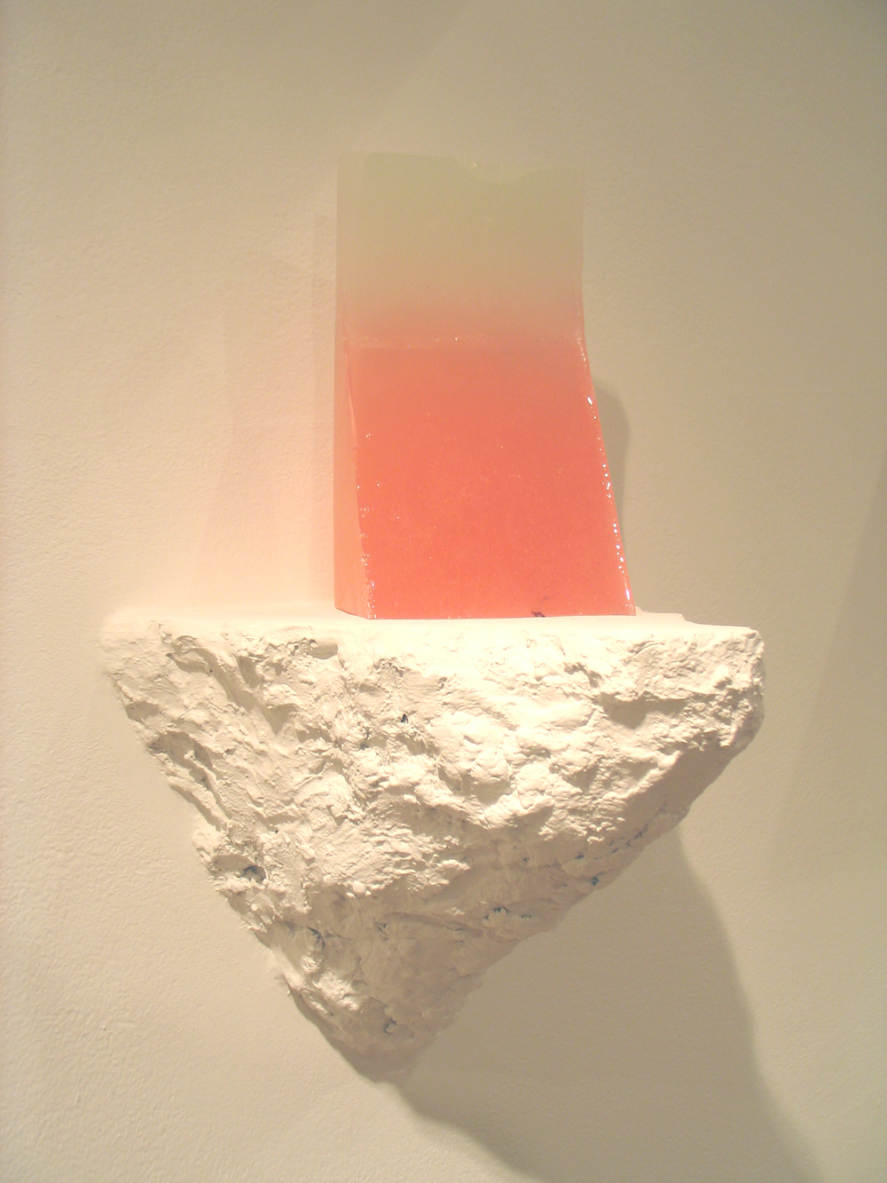 Jesse A. Greenberg  Pink Pill Cliff   2012 Plastic, pigment and plaster 14 x 11 x 8 ½ in/ 35.6 x 27.9 x 21.6 cm