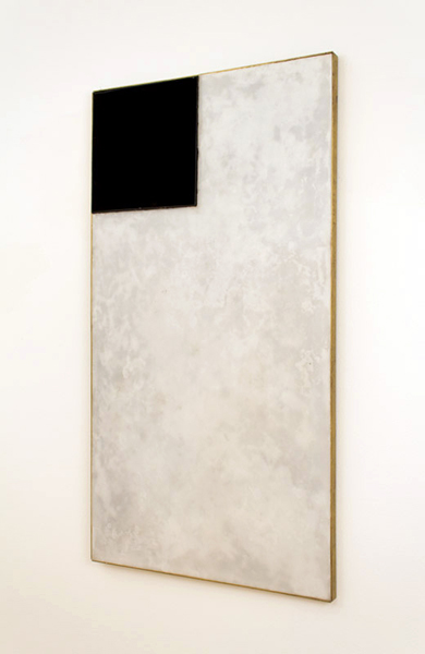 Lukas Geronimas  Things Do Present   2012 Museum wax, black velvet, plexiglas, brass, glue and wood 47 ½ x 1 ¼ x 25 ¾ in/ 120.7 x 3.2 x 65.4 cm