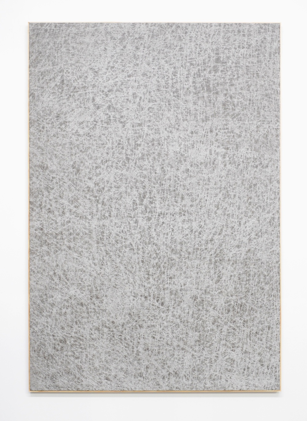 Jessica Sanders  Crumple A36 , 2014 Beeswax on stretched linen with artist frame 72 ½ x 49 ½ in/ 184.2 x 125.7 cm