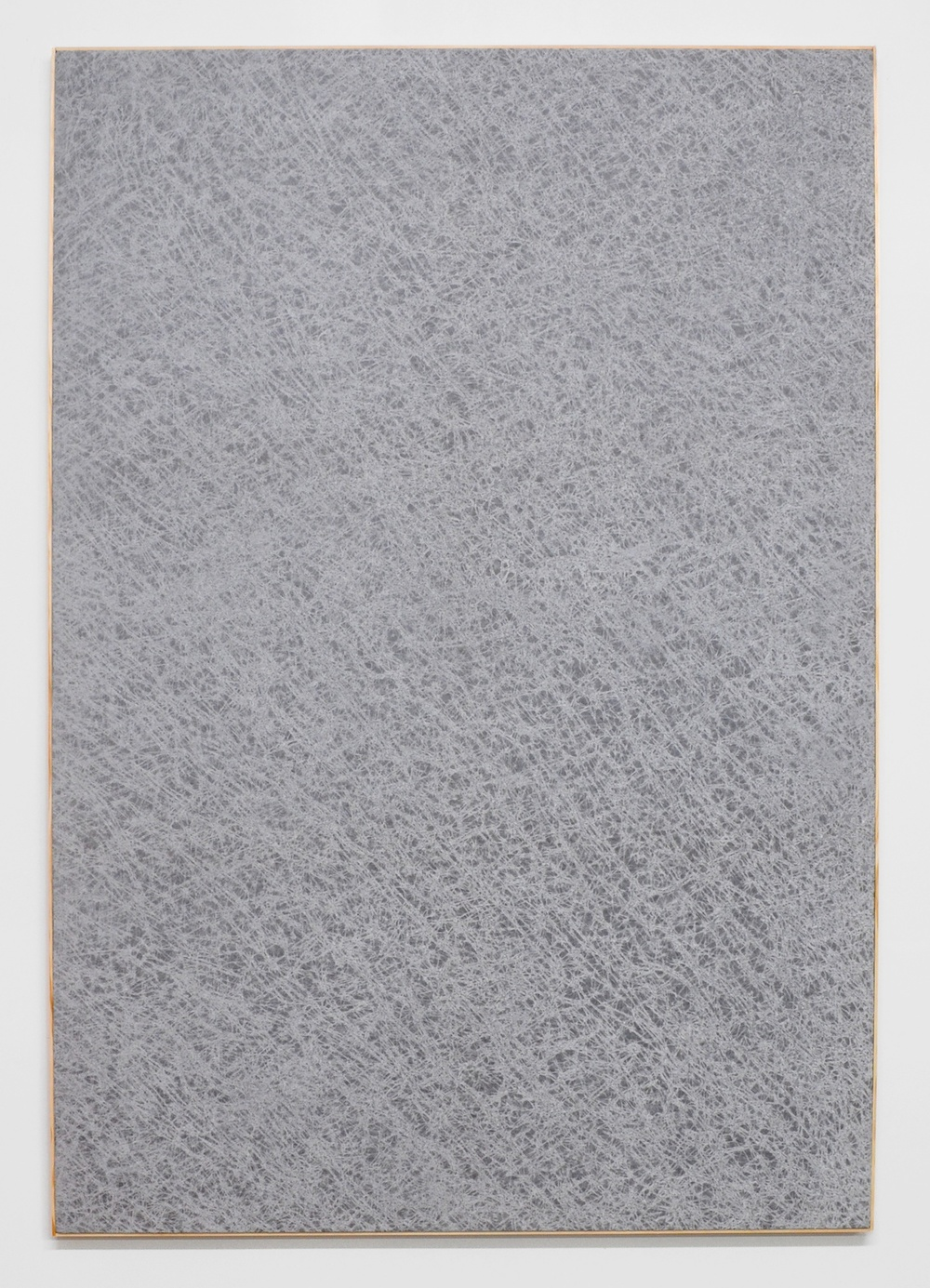 Jessica Sanders  Crumple A37,  2014 Beeswax on stretched linen with artist frame 72 ½ x 49 ½ in/ 184.2 x 125.7 cm
