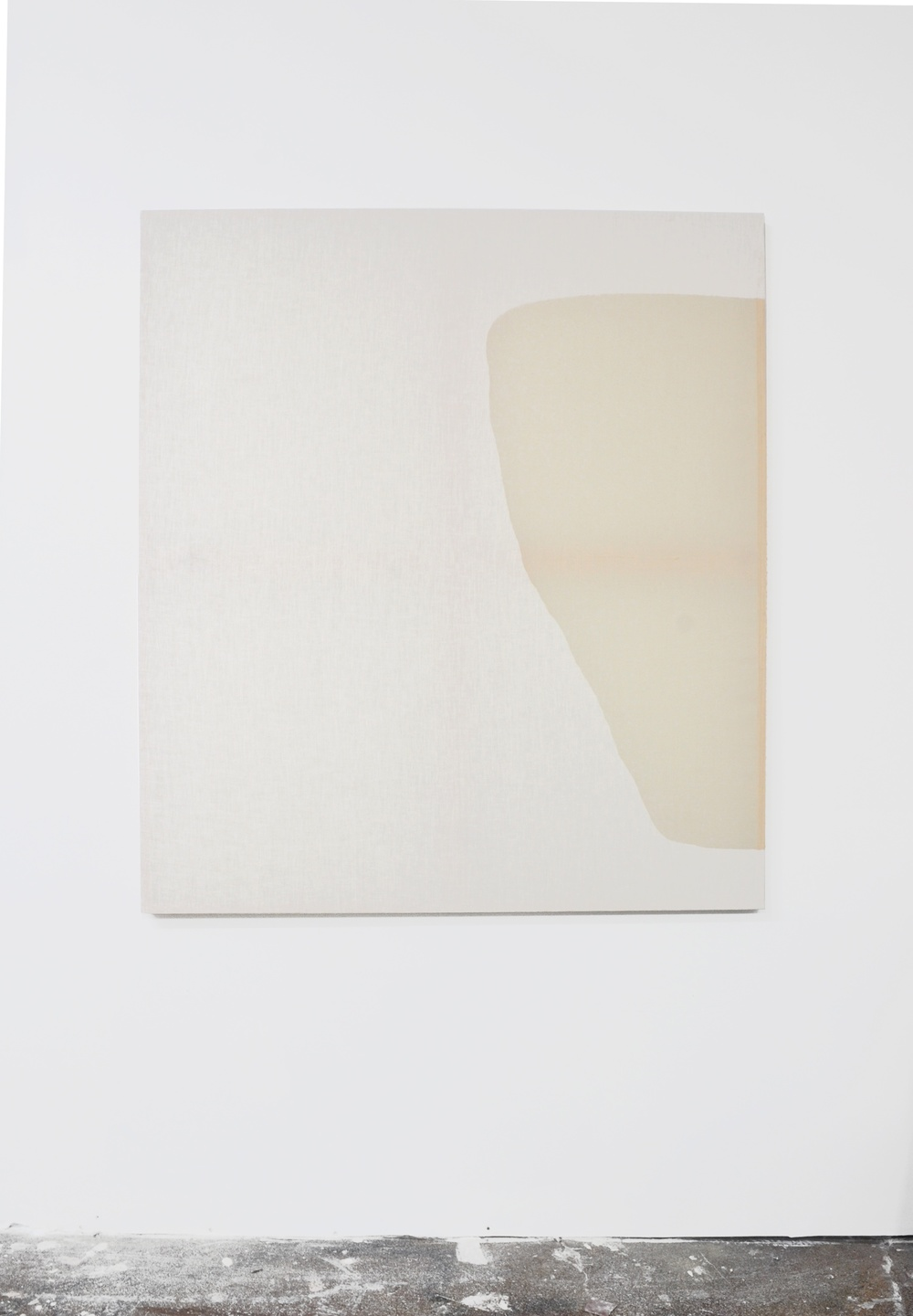 Jessica Sanders  Saturation A65 , 2014 Beeswax on stretched linen 59 ½ x 53 in/ 151.1 x 134.6 cm