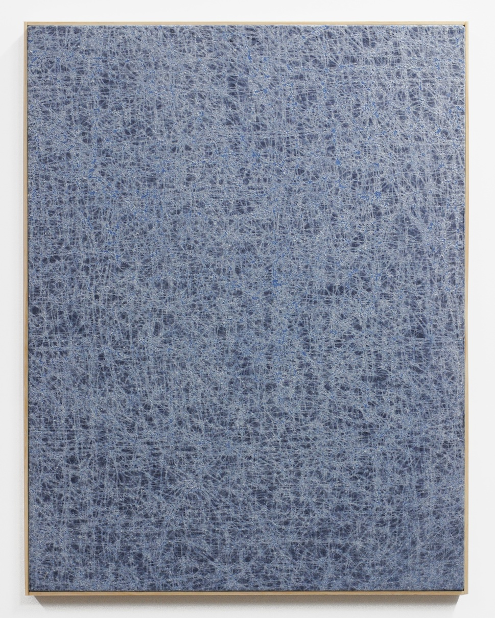 Jessica Sanders  Crumple A40 , 2014 Beeswax on stretched linen with artist frame 35 x 27 in/ 88.9 x 68.6 cm