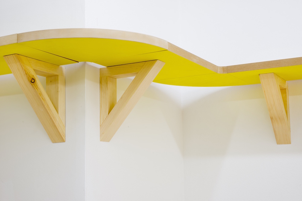 Aura Management   2015  Wood, synthetic polymer and existing architecture  Dimensions variable