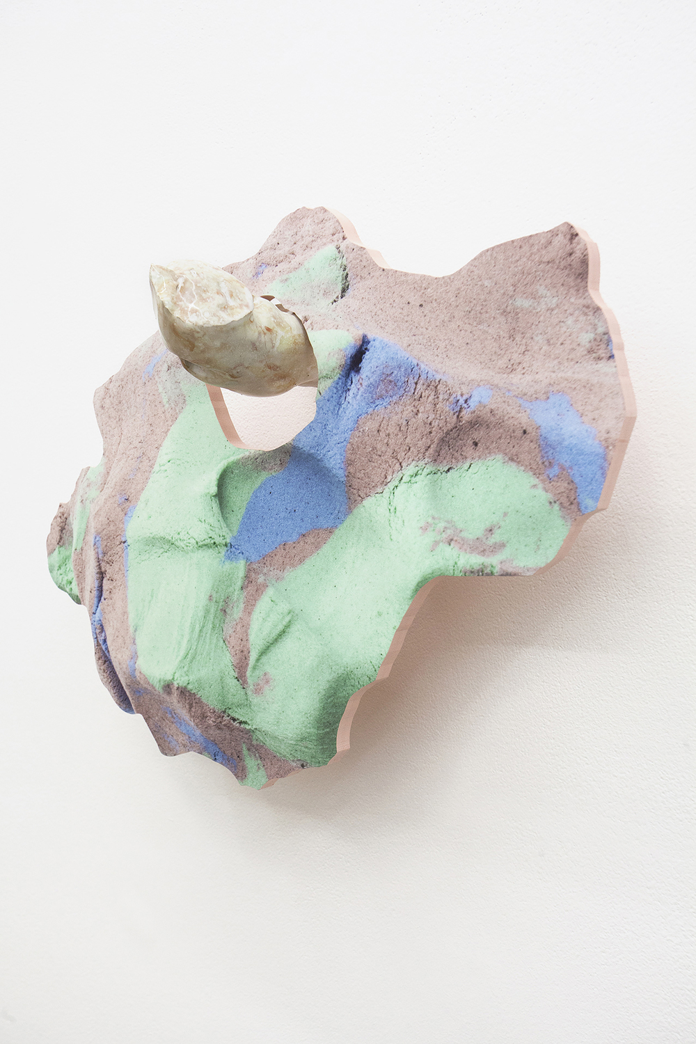 Soft Inquiry II   2015  Ceramic and archival inkjet print on PVC  14 x 19 x 7 in/ 35.6 x 48.3 x 18 cm