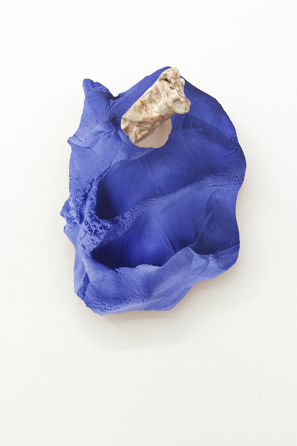 Soft Inquiry III   2015  Ceramic and archival inkjet print on PVC  20 x 15.5 x 11.5 cm/ 51 x 39.3 x 29.2 cm