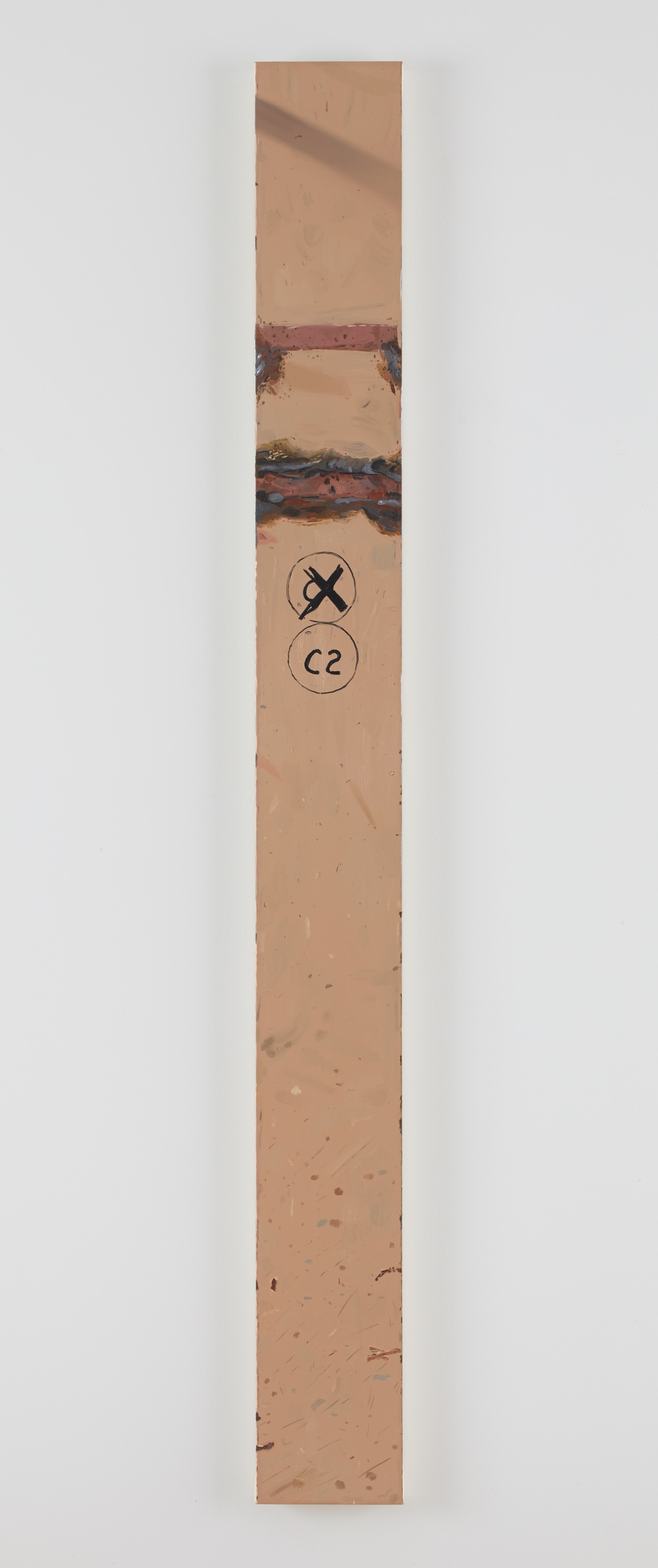 Josephine Halvorson   I-Beam 6 ,  2013  Oil on linen  79 x 8 in/ 200.7 x 20.3 cm