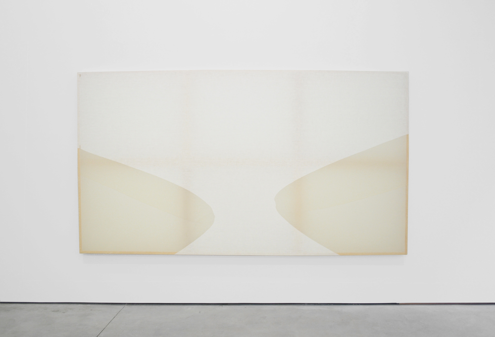 Saturation AW6 ,  2015  Beeswax on stretched linen  54 x 97.5 in/ 137.2 x 247.7 cm