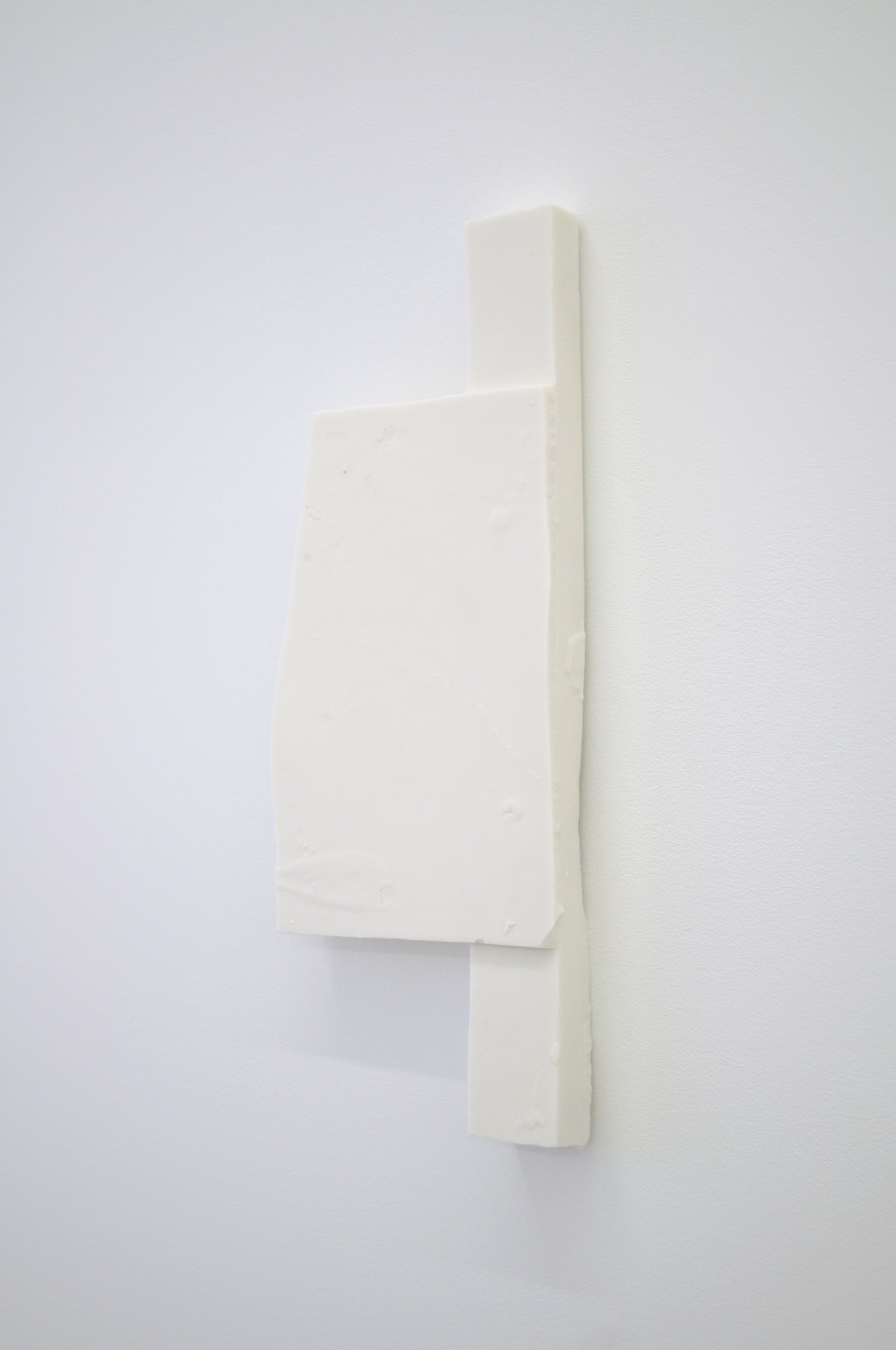 Mold Form AW3 ,  2015  Fired porcelain  11 x 5 x 1 in/ 27.9 x 12.7 x 2.5 cm