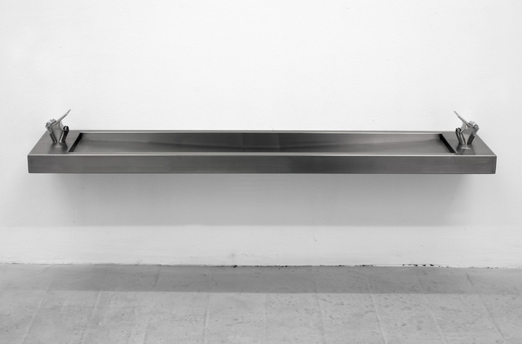 Automatic Faggot For The People   2010 Stainless steel 47 x 9.75 x 6 in / 120 x 25 x 16 cm