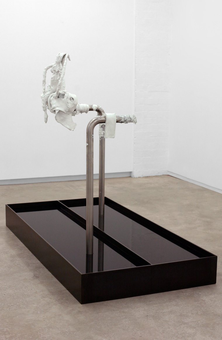 LapSink (The Squatter)   2013 Steel, stainless steel, epoxy clay, chlorinated water 61 x 78.7 x 39 in / 155 x 200 x 100 cm