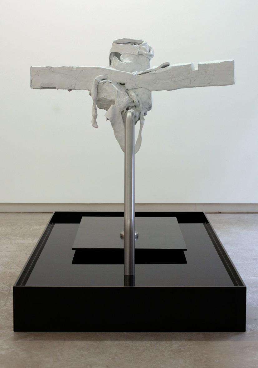 LapSink (Fishing For Candles)   2013 Steel, stainless steel, epoxy clay, chlorinated water 51 x 78.7 x 43 in / 130 x 200 x 110 cm