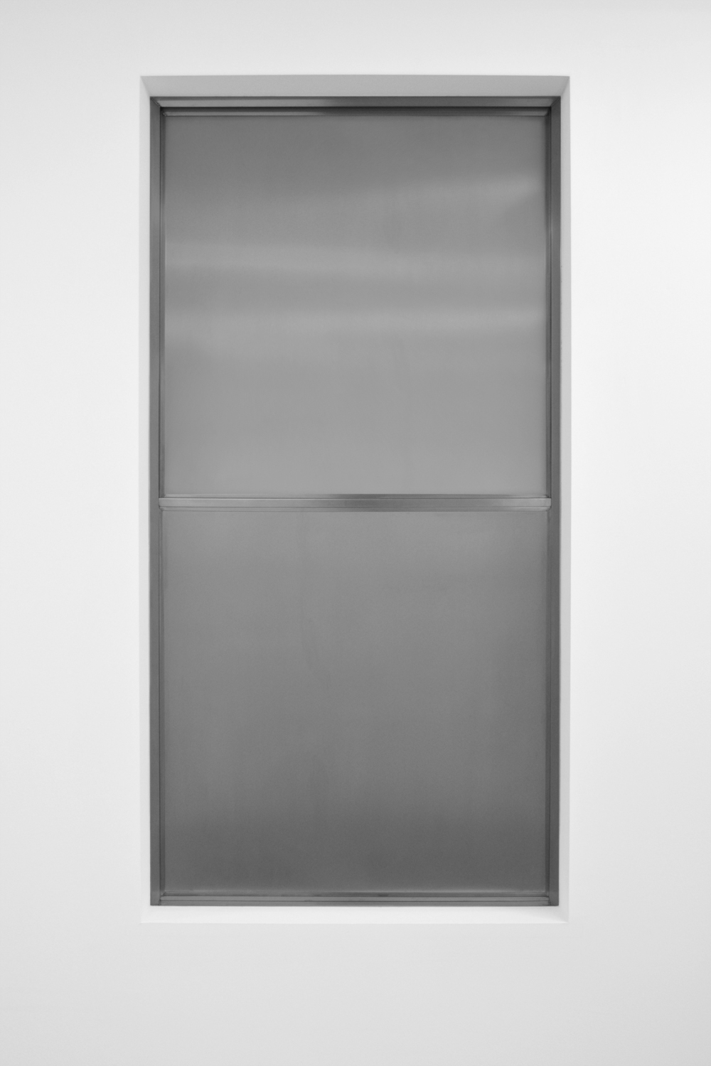 Lock Up Your Concepts   2011 Stainless steel 73 x 37 x 2 in / 186 x 94 x 5 cm