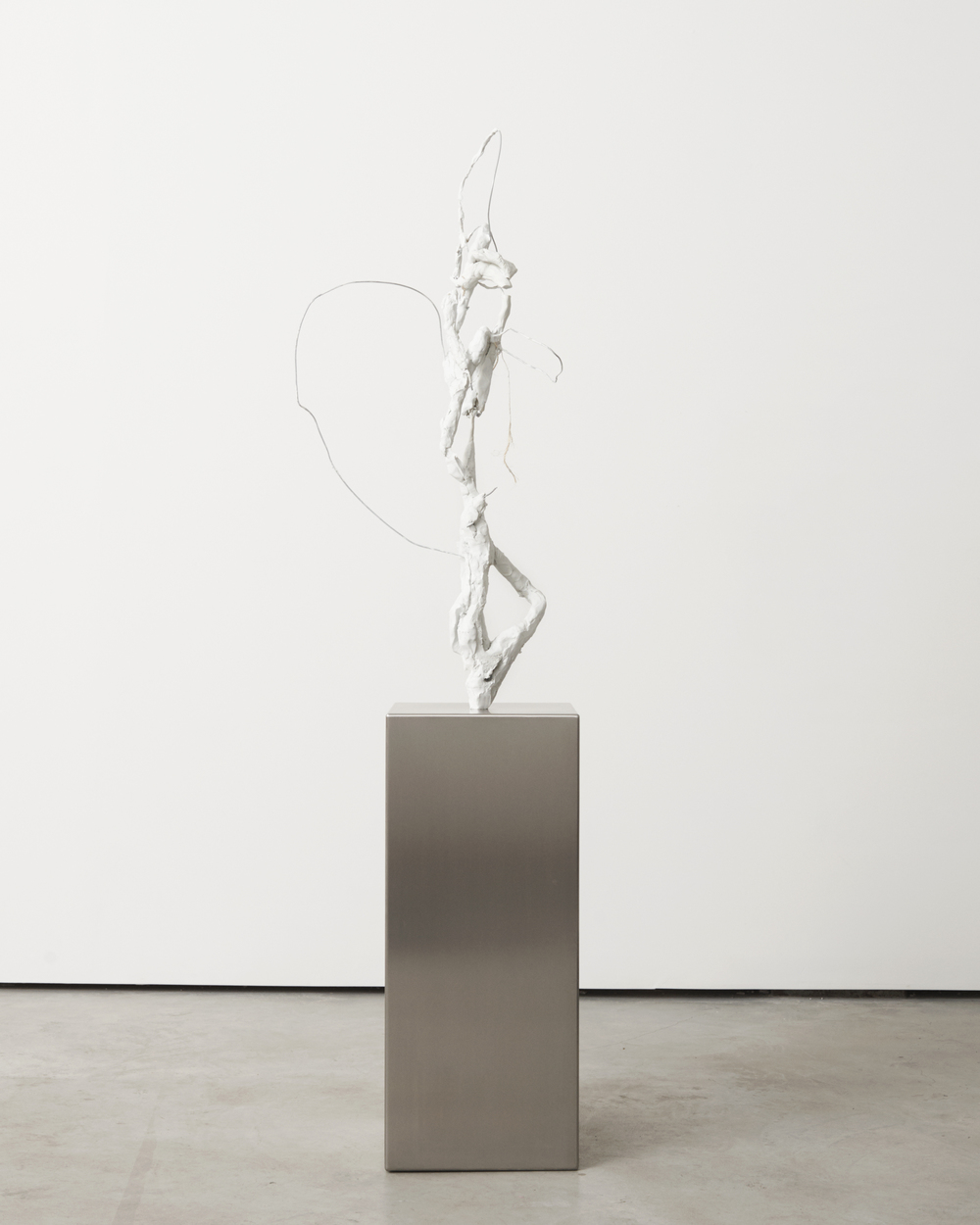 Fountain ,  2016  Stainless steel, epoxy resin, wire, twine  65 x 18 x 12.5 in/ 165 x 46 x 32 cm