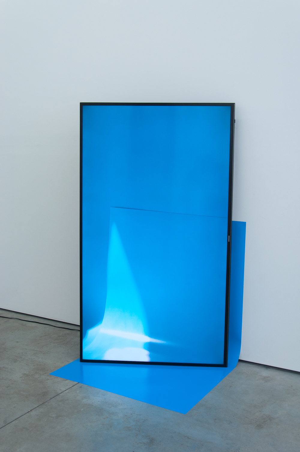 Viewfinder Sculpture (31 Blue Jay),  2016  Ultra High-Definition TV and inkjet print  Continuous loop  Unique