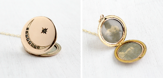 Antique Star and Moon Locket, circa early 1900s