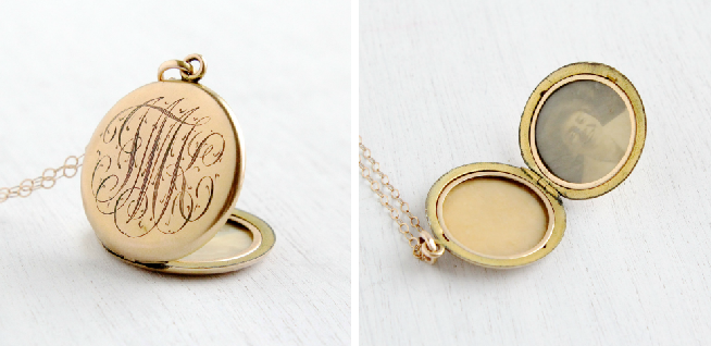 Antique Monogrammed Locket, circa early 1900s