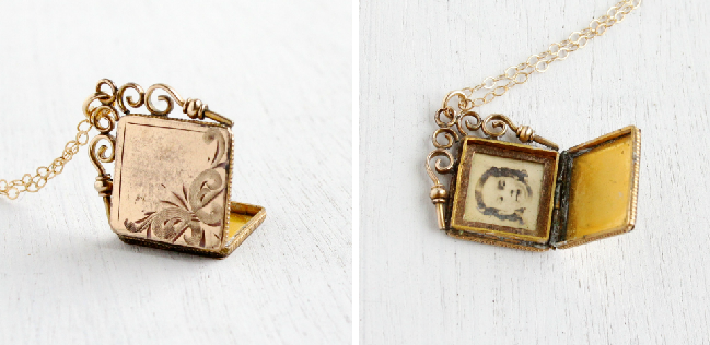 Victorian era locket, circa late 1800s