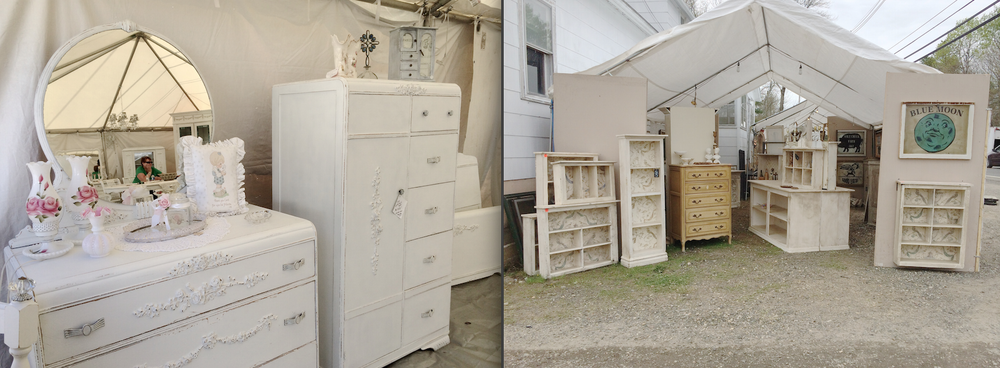 Lots of shabby chic furniture