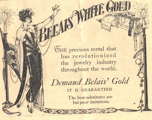 "Original Belais advertistment - ""Demand Belais' Gold"""