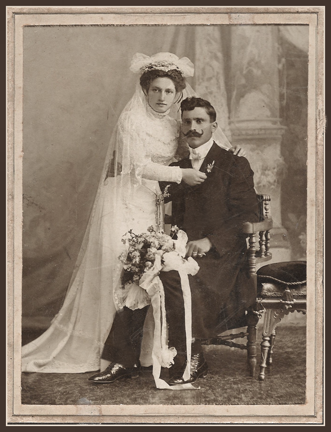 Stunning couple who may have been adorned in buckle motif jewelry.      Buckles rendered safety, security, protection, authority, and ultimate victory.