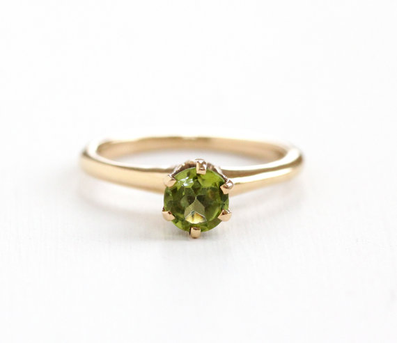 Antique Rose Gold Peridot Ring