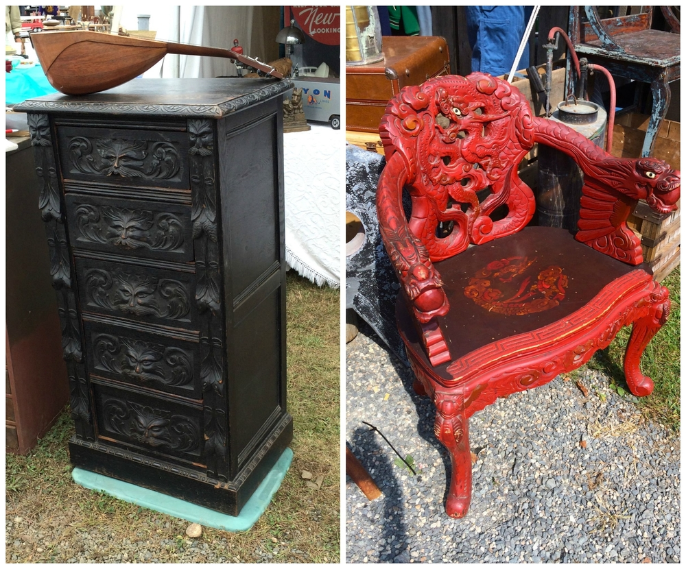 Two unique vintage pieces of furniture that caught my eye at the show!