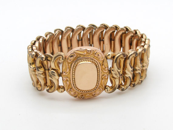 Antique Gold Filled Expansion Bracelet via  FountainCityJewels