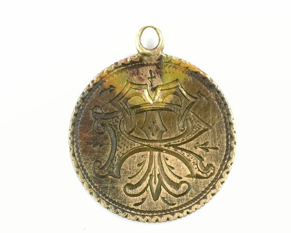 Antique Love Token Pendant via  JewelryCITI