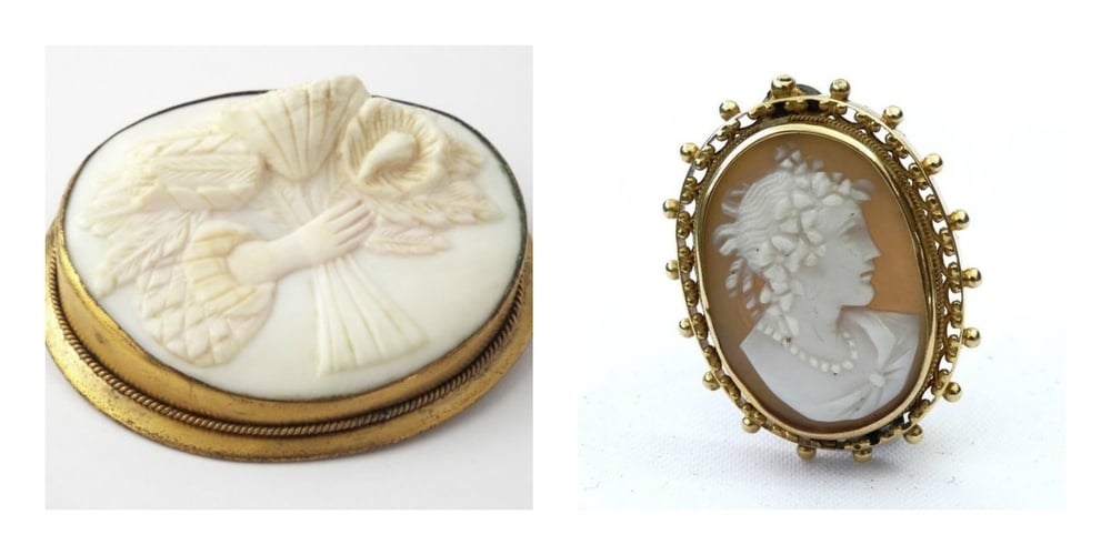 Antique Bouquet Cameo Brooch via  MyNewDiscoveries  - Victorian Protrait Cameo Brooch via  GloryBeVintageWares