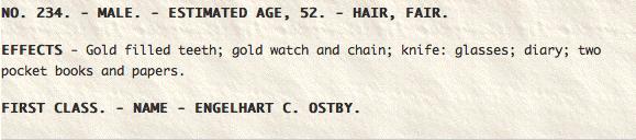 Engelhart C. Ostby Found