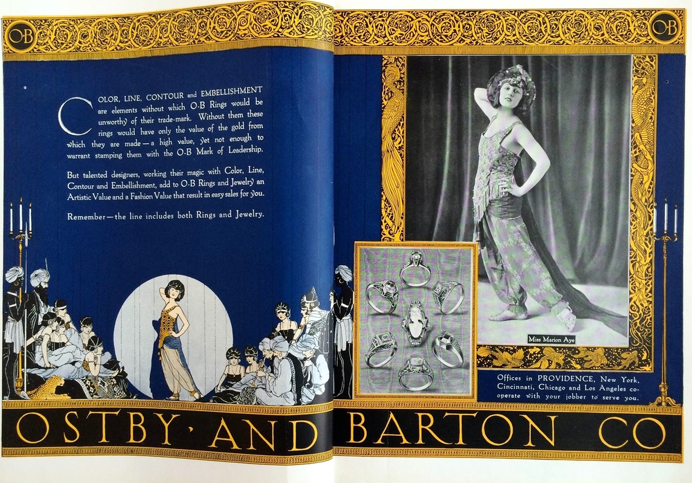 Ostby & Barton Colored Ad, Jewelers' Circular, 1920