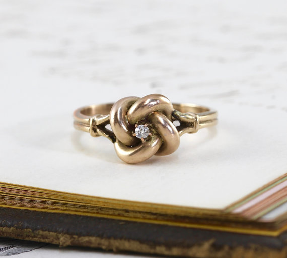 Antique Diamond Love Knot Ring via    TheEdenCollective