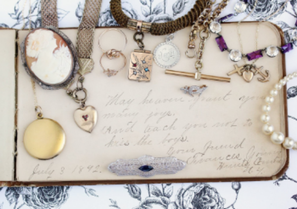 Antique  &  vintage   jewelry  available via  MaejeanVintage