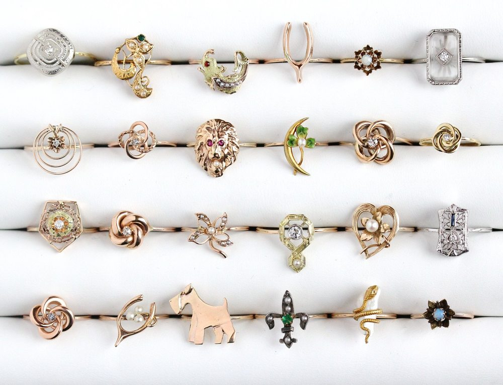 Vintage Jewelry Trends of 2016 Opals Rose Gold Baby Rings Oh