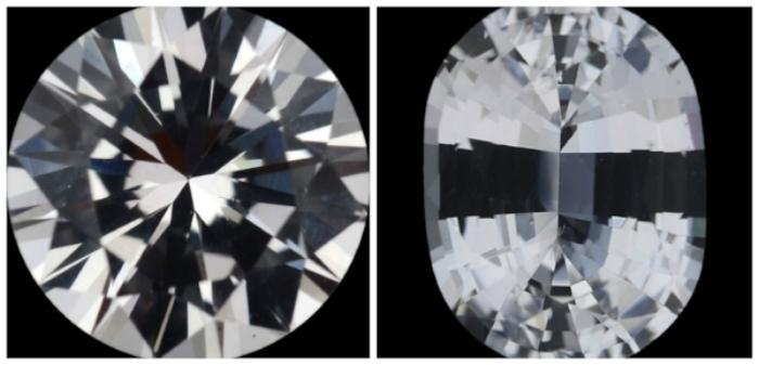 --> 1.46 Carat White Sapphire, and 1.5 Carat White Sapphire