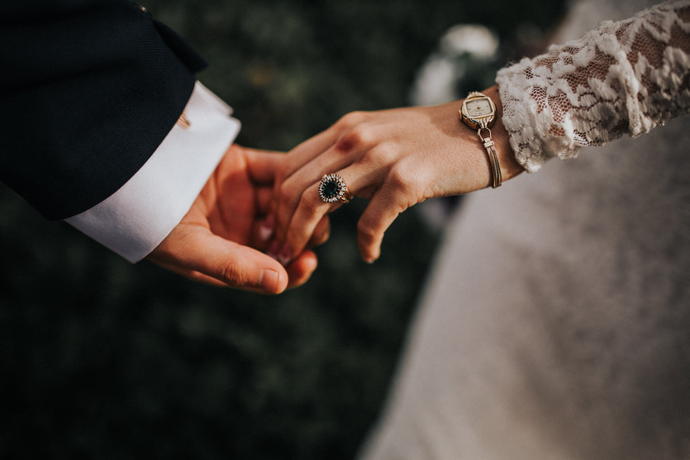 The perfect pair - Our vintage ring worn with the watch that was given to Malia's grandmother on her 8th grade graduation.  Captured by -  Will Khoury