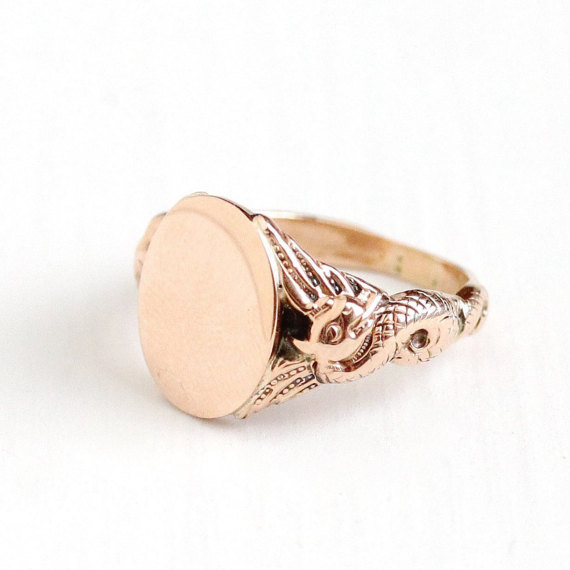 Antique Blank Signet Ring