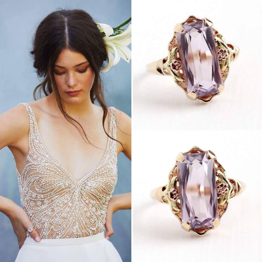 Vintage amethyst ring: sold - shop similar vintage amethysts rings  here