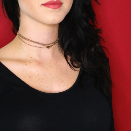 Tripled as a choker  Shop this chain  here