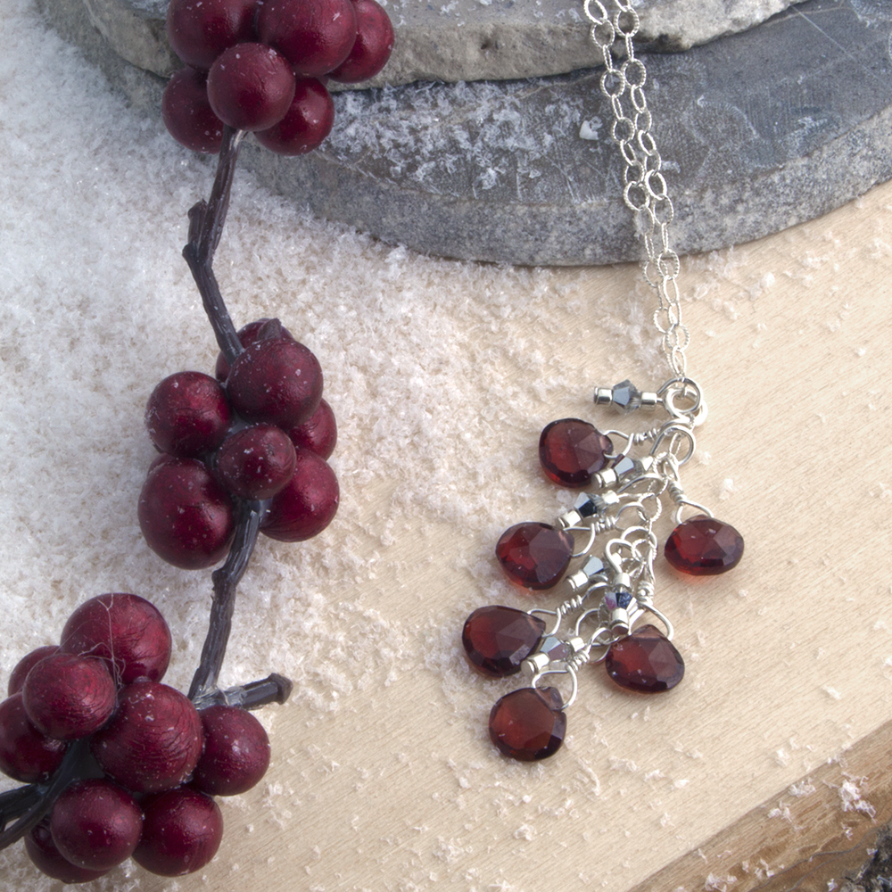 Like winter berries against white winter snow, Garnet sure does pop!