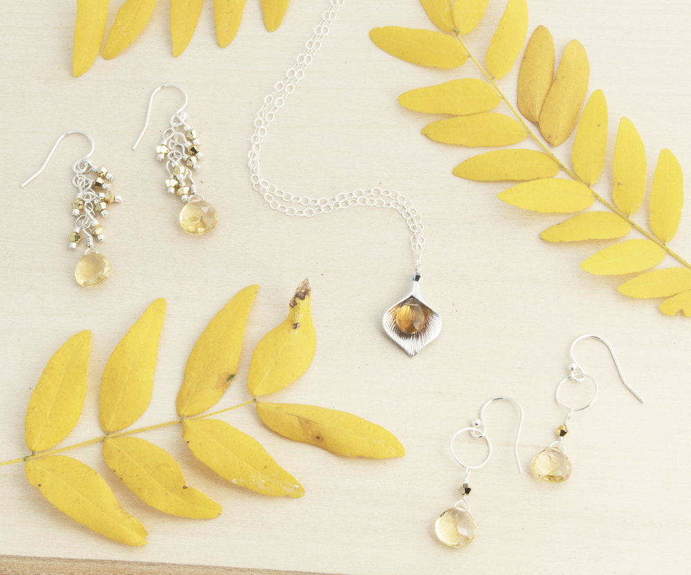 Amy's selection of Citrine jewelry ranges from warm and earthy to crisp and clean.