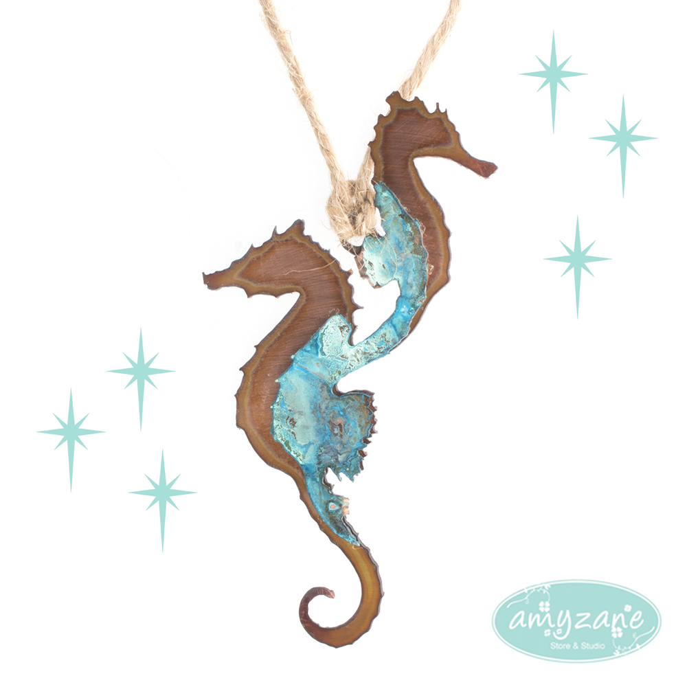 Copper Seahorses by H&K Studios