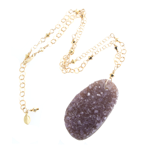 Amethyst crystal necklace gemstone jewelry functional fine amethyst crystal necklace aloadofball Image collections