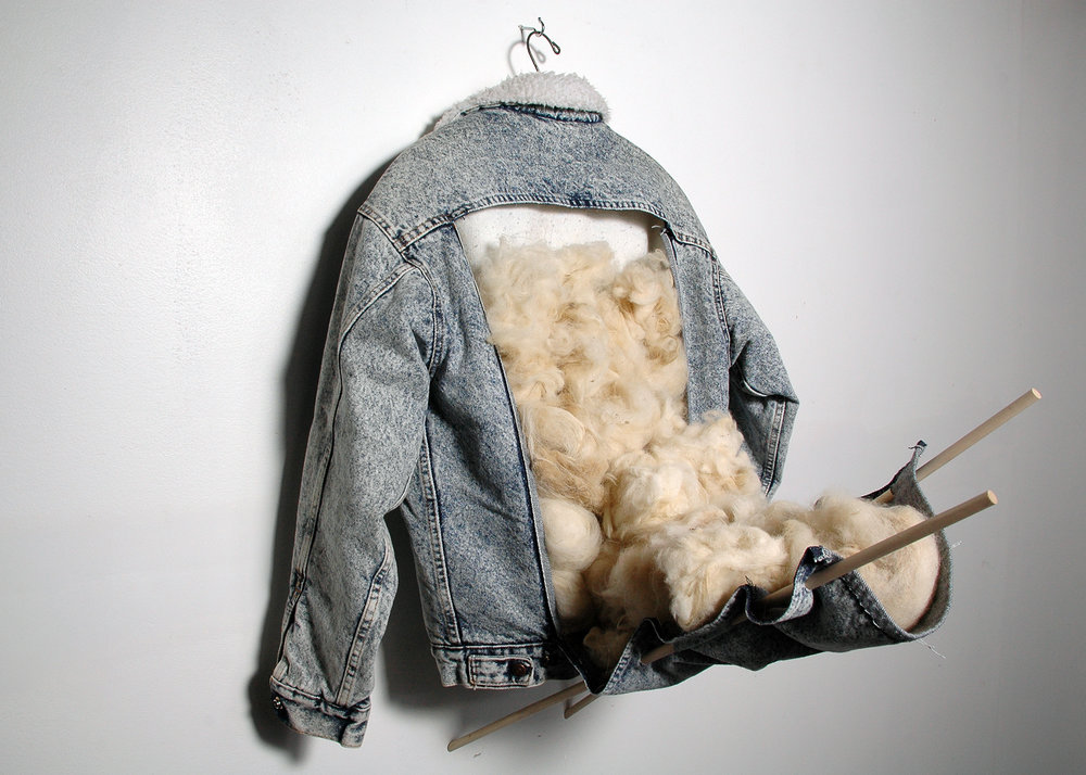 "Water Weight; from ""Second Skin""; salvaged jacket, wool; 2015"