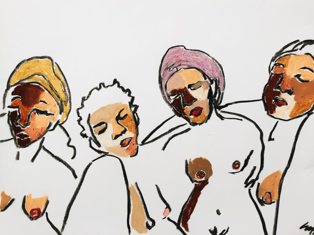 "Four Women,24"" x 18"""